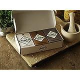 Maldon Geschenkset - Sea Salt Flakes und geräucherte Sea Salt Flakes und Maldon Pfeffer