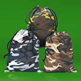 Camouflage Drawstring Bags - 12 per unit - Assorted colors