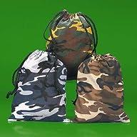 Camouflage Drawstring Bags – 12 per u…