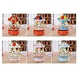 KAKA(TM) Sweet Creative Design Music Box Carousel Style Gifts for Girls