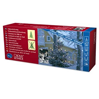 Konstsmide 1191-000 - Guirnalda para el árbol de navidad (25 luces transparentes, 230 V, para exteriores)