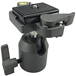 ePhotoInc Pro Camera All Metal Camera Tripod Ball Head with Quick Release Plate WT2H