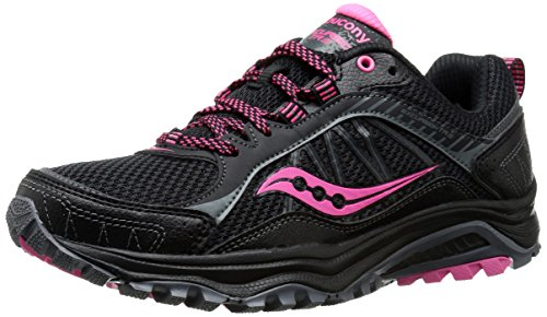 Saucony Women's Grid Excursion TR9 Trail Running Shoe, Black/Pink, 5.5 M US