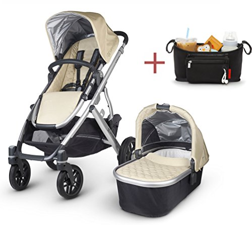 Why Choose 2016 Uppababy Vista Stroller with Rain Cover & modd mini Stroller Console (Lindsey)