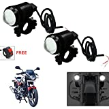 #9: Vheelocityin U1 LED Motorycle Fog Light Bike Projector Auxillary Spot Beam Light (Black, 2Pc) For Bajaj Pulsar 180