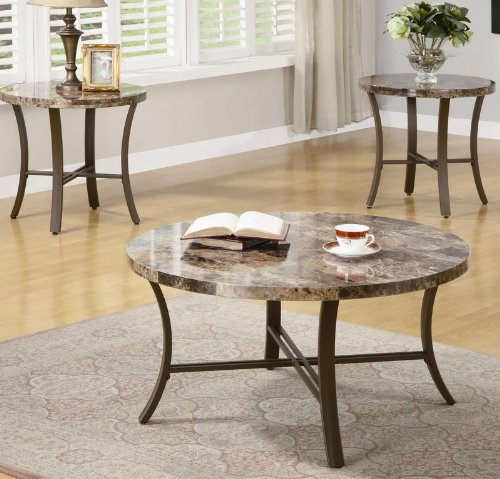 Buy Black Marble Square Coffee Table Gun Metal Base At: Buy Low Price 3pc Coffee Table Set With Marble Look Top In