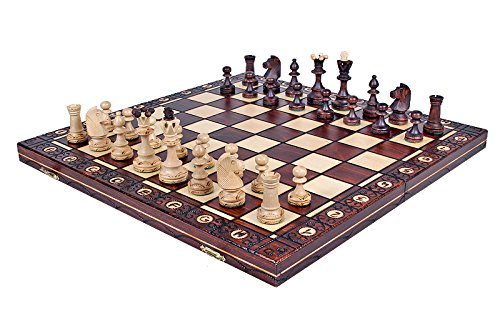The Zaria - Unique Wood Chess Set, Pieces, Chess Board & Storage 3
