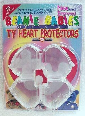 Imagen de TY Beanie Baby Protectores Corazón Tag - Paquete de 10 (Official Brand Ty)