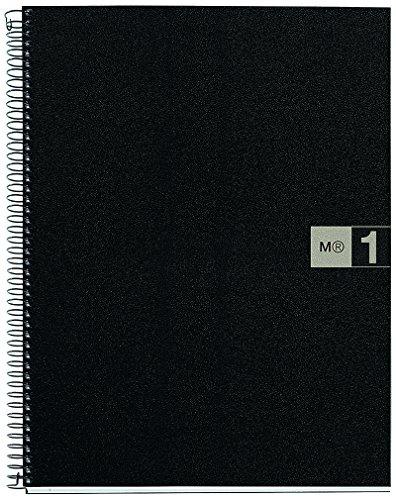 basicos-mr-44067-notebook-1-colour-a4-squared-80-sheets-polypropylene-grey-90-grams