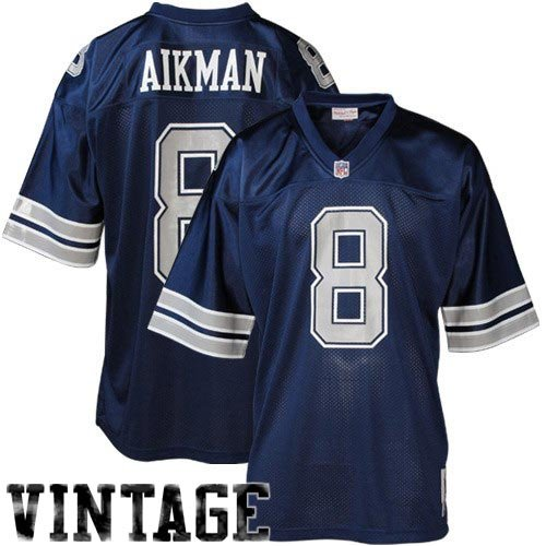 NFL Dallas Cowboys #8 Troy Aikman Navy Blue 1992 Throwback Collectible Jersey (64) at Amazon.com