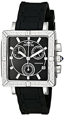Invicta Women's 0722 II Collection Chronograph Black Polyurethane Watch