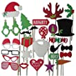 SUNNOW� 27 PCS Wedding Christmas Hat Mustache Antlers Within Interesting Photo Booth Props