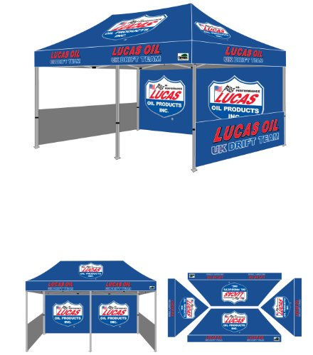 Eurmax Professional Deluxe Display Trade Show Instant Canopy Pop Up Tent With Custom Full Color Imprinted Canopy, All Sizes (10 X 20) front-1051346