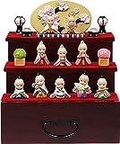 雛人形 ローズオニールキューピーお雛様・三段飾り かわいいコンパクト収納飾り ひな人形