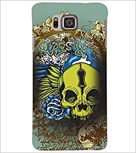 PrintDhaba skull D-4626 Back Case Cover for SAMSUNG GALAXY ALPHA (Multi-Coloured)