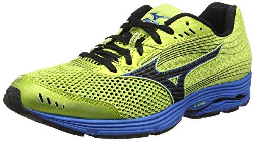 mizuno-wave-sayonara-3-scarpe-running-uomo-verde-wildlime-black-direblue-44-eu