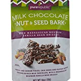 Pure Republic Milk Chocolate Nut & Seed Bark - Almond And Cashew Pieces, Chia Seeds And Puffed Quinoa Covered...