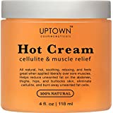 Uptown Cosmeceuticals Anti Cellulite, Cream 4 fl. oz.- 100% Natural Reduces Appearance of Cellulite, Promotes Supple & Toned Skin, Muscle Relaxation & Pain Relief Cream Treatment