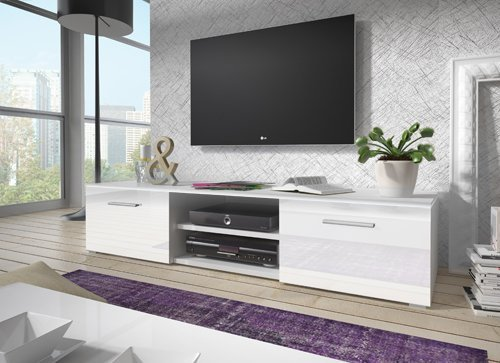 Mueble TV modelo Olga en color blanco sin led (1,5 m), (varios colores disponibles)