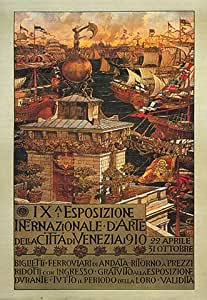 1910 VENEZA ITALIA CITY OF VENICE ITALY LARGE VINTAGE POSTER REPRO