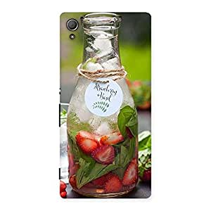 Special Strawberry and Basil Multicolor Back Case Cover for Xperia Z4