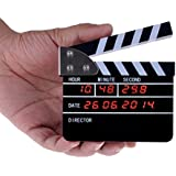 Neewer® USB Rechargeable Film Action 4''X3''/ 11cm X 9cm Director's Film Movie Clapper Board LCD Display with Digital Alarm Clock