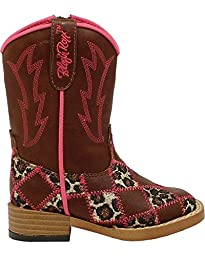 Blazin Roxx Toddler-Girls\' Miley Patchwork Boot Square Toe Brown 8 US