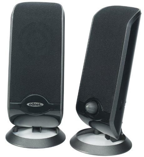 Ednet Kompaktes 2.0 Lautsprecher schwarz