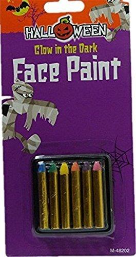 Ardisle Glow In The Dark Face Paint Make Up Sticks Crayon Halloween Ultra Violet Crayons by Ardisle [並行輸入品]