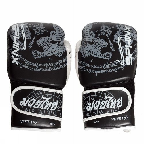 Sphinx Gear Viper Fxx, Tiger Edition Guanto da Boxe, Nero, 10 oz