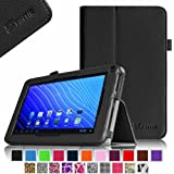 Fintie Double Power M series EM63 7'' Folio Case - Premium PU Leather Stand Cover with Stylus Holder Only Fit 7-inch Double Power DOPO EM63 Tablet - Black