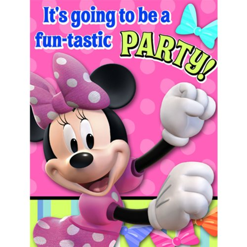 Disney Minnie Mouse Bow-tique Invitations Party Accessory - 1