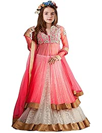 Kid's Clothing Lehenga Choli Designer Party Wear Today Offer Low Price Sale White Color Russel Net Fabric Embroidered...