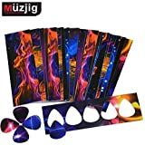 Muzjig - 0.71mm Plastic Strips To Make Guitar Picks - 25pcs - Abstract Style