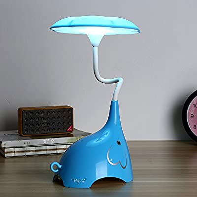 WFCL LED desk Lamp,Children's Night Lights,3 Lighting Modes (Reading/Studying/Bedtime),3-Level Dimmer,USB Charging Port,Flexible Neck,?White?