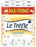 Le Trèfle - 407728 - Papier Toilette - Camomille - 24 Rouleaux - Maxi Format