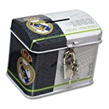 Official real madrid mini trunk shaped money with lock and key