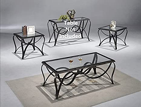 Brand New 3-pk Monarch Coffee Table (1)and End Table (2) Cocktail set with Glass Table Top