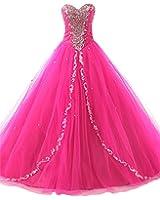 JAEDEN Women's Sweetheart Long Quinceanera Dresses Formal Prom Dresses Ball Gown