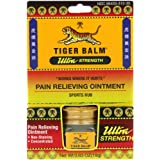 Tiger Balm Pain Relieving Ointment, Non-Staining, Ultra Strength, 0.63 Ounces (Pack of 2) ~ Tiger Balm