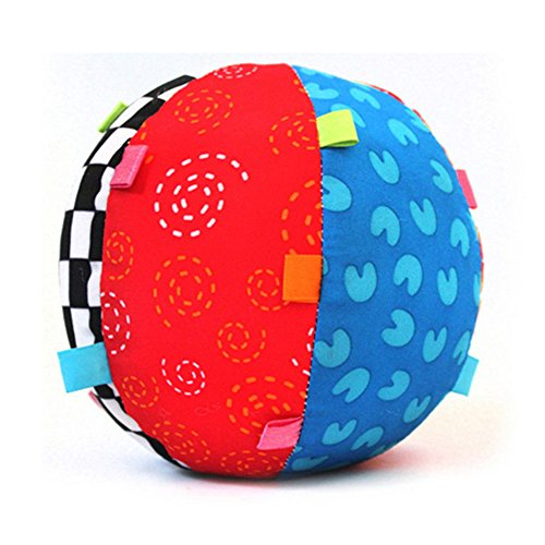 Sunrise Bell Cloth Ball Toys Gift for Kids/Baby/Infant Colorful Soft Hand Grasp