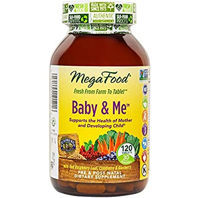 MegaFood - Baby & Me, Prenatal and Postnatal Support for Mother and Baby, 120 Tablets