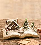 Wind & Weather Christmas Book Music Box - Resin - Indoor Christmas Decor - Plays 8 Beloved Carols - 12 L x 7½ W x 5½ H