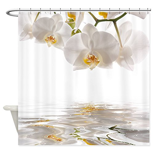 CafePress - White Orchids - Shower Curtain (Cafe Press Orchid Shower Curtain compare prices)