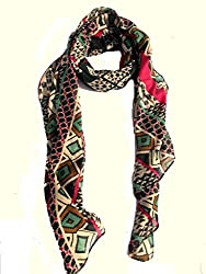 lotusa printed casual scarf
