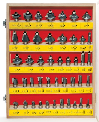 MLCS 8379 Shopmaker Boxed Router Bit Set, 1/2-Inch Shank, 45-Piece