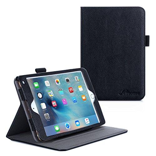iPad Mini 4 Case, roocase Dual View Pro iPad Mini 4 Multi-Viewing Stand Folio Case Smart Cover for Apple iPad Mini 3 (2015), Black (Mini Dv Case compare prices)
