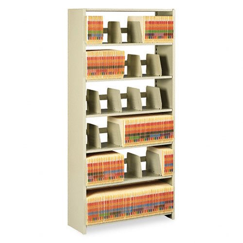 Tennsco Products - Tennsco - Snap-Together Open Shelving Steel 6-Shelf Closed Starter Set, 36 x 12 x 76, Sand - Sold As 1 Each - Provides a single freestanding unit. - Use with Add-On Units for a complete wall system. - Units snap together without tools or fasteners. - All shelves are adjustable. - Order one Starter Set and any number of matching height Add-On Units. Two