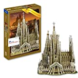 3D Puzzle Model Church Cathedral Sagrada Familia Basilica Barcelona Spain Travel for christmas gift