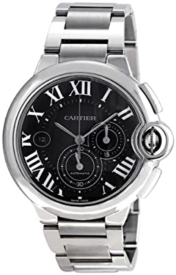 Cartier Ballon Bleu Extra Large 44mm Automatic Black Dial Chronograph Watch - W6920025